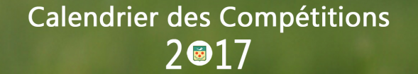 Calendrier des competitions 2017 1